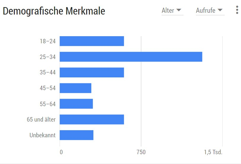 Infografik: Demographische Merkmale der Nutzer des YouTube-Channel industry-press.com